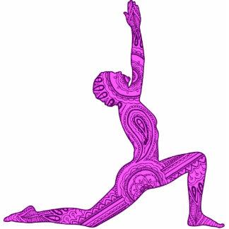 Yoga Crescent-Moon Mehndi Design Magnet Photo Sculpture Magnet