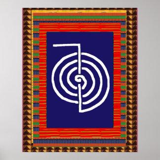 Yoga d'ART curatif de symbole de REIKI :  le