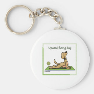 Yoga Dog - Upward Facing Dog Pose Keychain