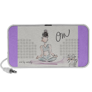 Yoga doodle iPod speakers