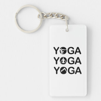 Yoga Double-Sided Rectangular Acrylic Keychain