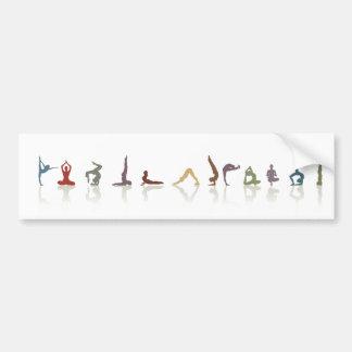 yoga earth bumper sticker