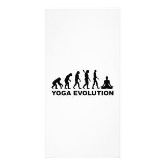 Yoga evolution custom photo card