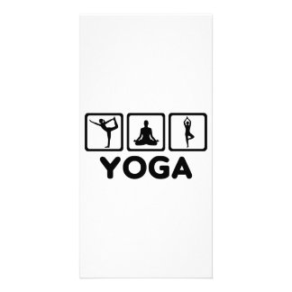 Yoga exercises photo cards