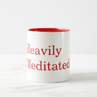 Yoga Fitness Heavily Meditated Two-Tone Coffee Mug
