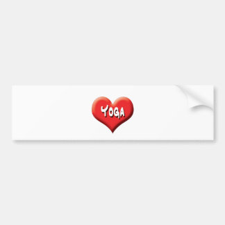 Yoga for Everyone - Red Hearts Bumper Sticker