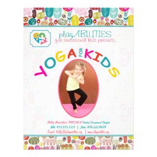 Yoga For Kinds Colorful Floral Flyer