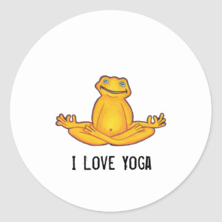 Yoga Frog - I Love Yoga, Sticker