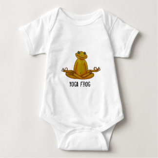 Yoga Frog - I Love Yoga, Zen Moments Baby Bodysuit