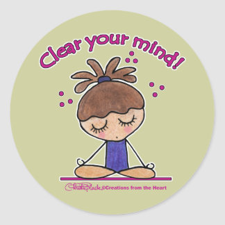 Yoga Girl-Clear Your Mind Classic Round Sticker