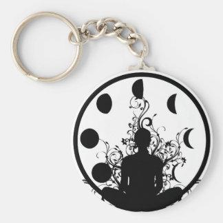 Yoga girl Key chain