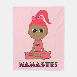 Yoga Girl Namaste Fleece Blanket