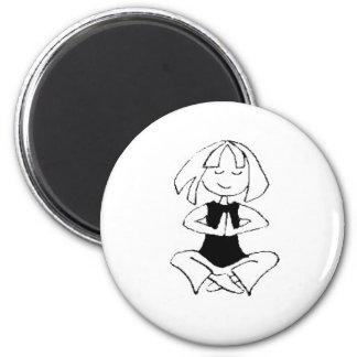 Yoga Girl- namaste Magnet