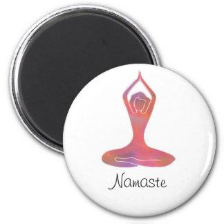 Yoga Girl Namaste Magnet