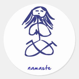 Yoga Girl namaste stickers