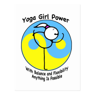 Yoga Girl Power Logo Postcard