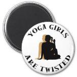 Yoga GIrls Are Twisted  Gift Fridge Magnets