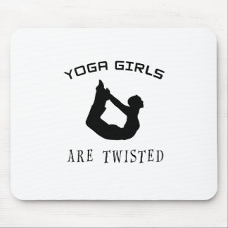Yoga Girls Are Twisted Mouse Pad