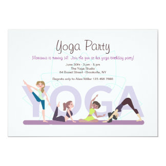 Yoga Girls Invitation