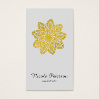 Yoga - Gold Lace Business Card