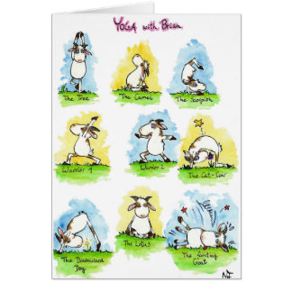 YOGA greeting card by Nicole Janes