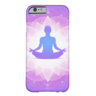 Yoga Harmony Purple Floral Art Illustration Barely There iPhone 6 Case