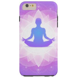 Yoga Harmony Purple Floral Art Illustration Tough iPhone 6 Plus Case