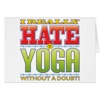 Yoga Hate Face Card