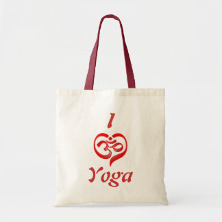 yoga heart tote bag