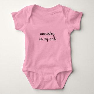 Yoga humor baby pink tee