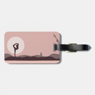Yoga in Pink Luggage Tag