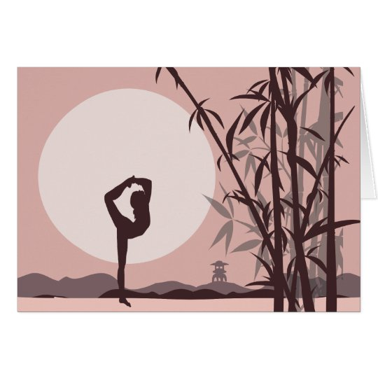Yoga in Pink Notecards Card