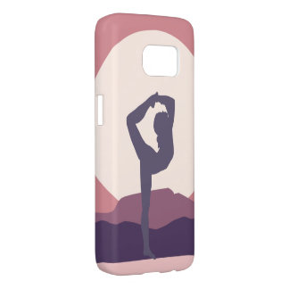 Yoga in Purple Samsung Galaxy S7 Case