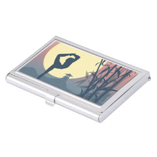 Yoga in the Mist Business Card Holder