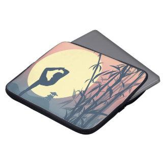 Yoga in the Mist Laptop Sleeve