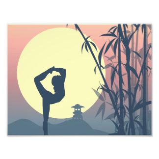 Yoga in the Mist Photo Print