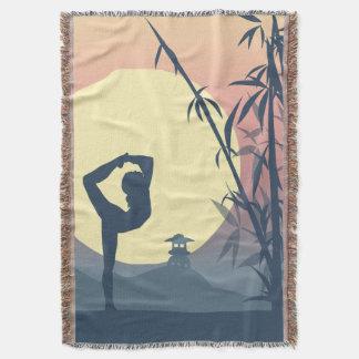 Yoga in the Mist Throw Blanket