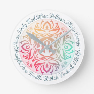 Yoga Inspirations Clock