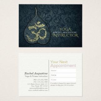 Yoga Instructor Bodhi Leaf OM Symbol Appointment Business Card