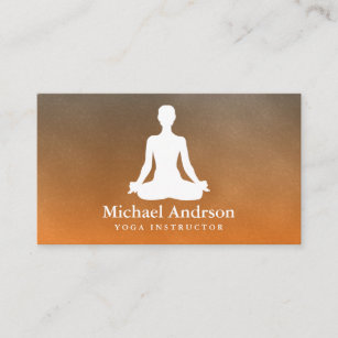 Yoga instructor business cards profile cards zazzle ca yoga instructor business card reheart Images