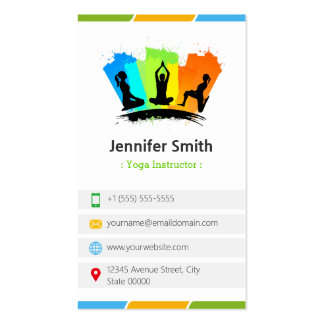 YOGA Instructor - Creative Colourful Pack Of Standard Business Cards
