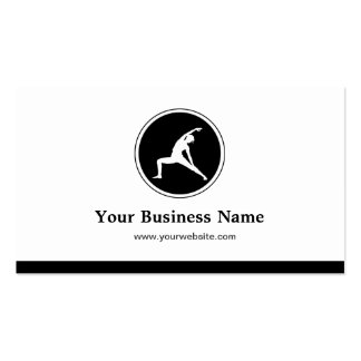 YOGA Instructor Fitness Company - Simple Elegant Business Card