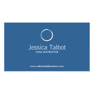 YOGA INSTRUCTOR FITNESS TRAINER Business Card