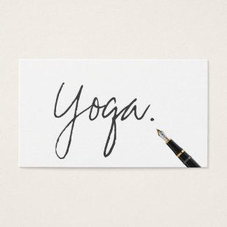 Yoga instructor Handwritten Script Elegant Business Card