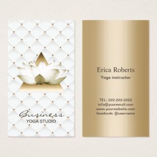 Yoga Instructor Modern Gold Lotus Elegant Business Card