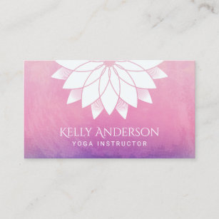 Yoga instructor business cards profile cards zazzle ca yoga instructor modern lotus floral mandala business card reheart Images