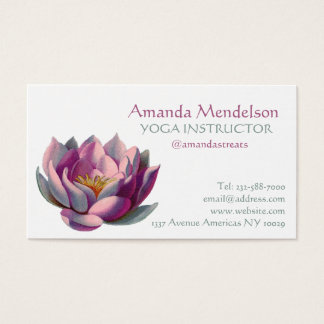 Yoga instructor spa and fitness business card