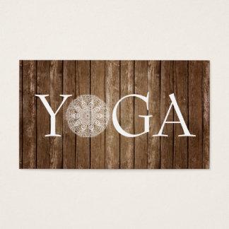 YOGA Instructor - Vintage Wood Business Card