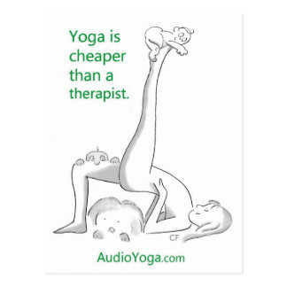 Yoga is Cheaper Than a Therapist Postcard