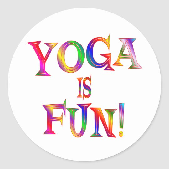 Yoga is Fun Classic Round Sticker